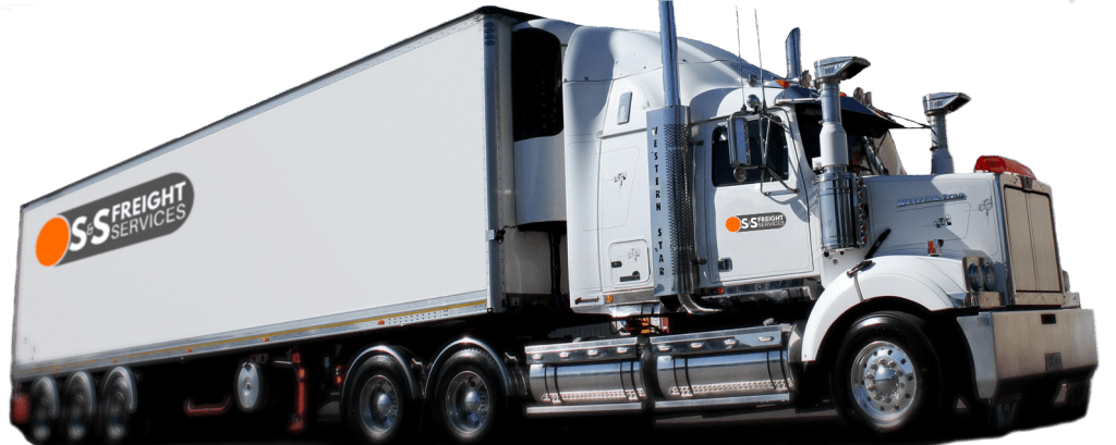 S&S Freight Services truck with company logos