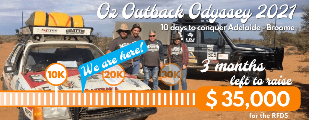 Outback Odyssey fundraising update - 14.5k raised